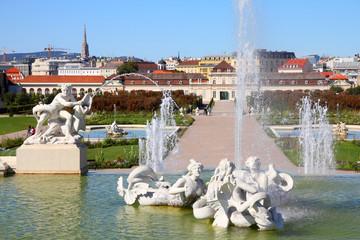 Vienna - Belvedere gardens fountains