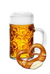 Bier mit Brezn