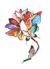 butterflies flower