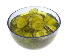 Pickles in Bowl Side View