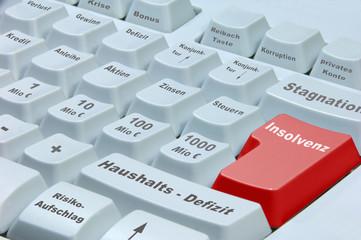 Finanzmarkt Tastatur