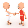 Little toons handshake. Deal, business agreement