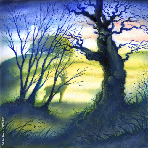 Atmospheric trees with stag