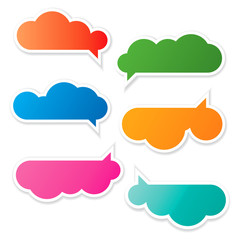 Cloudy Speech Bubbles Set