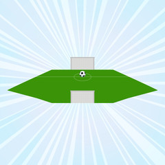 concept of challenge: the soccer field