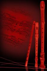 Blockflöten und alte Noten