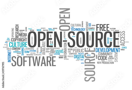 "Word Cloud ""Open Source"""