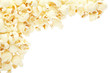 Popcorn frame isolated, clipping path included
