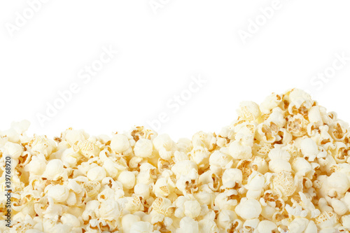 Popcorn on white, clipping path included - 39768920