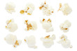 Popcorn collection isolated, clipping path included