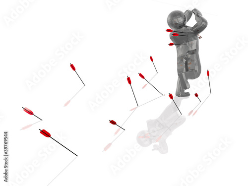Man with arrows