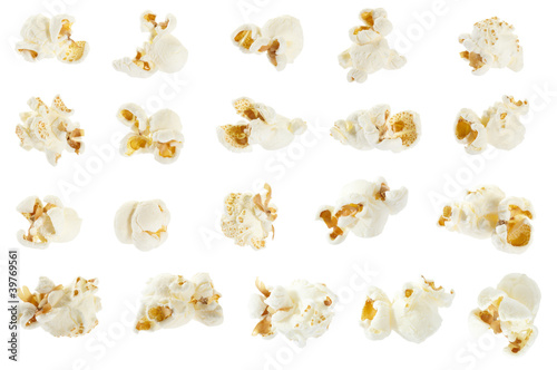 Popcorn isolated, clipping path included