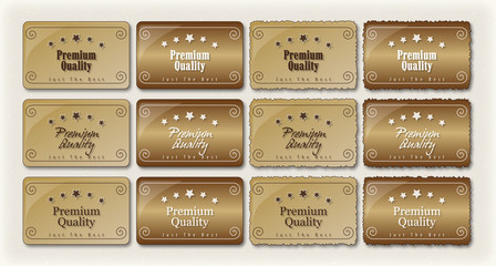 Premium Quality Labels Retro S