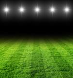 Fototapety fussballfeld in der Nacht