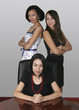 three professional businesswoman in an office