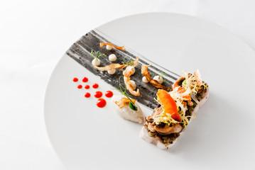 loup de mer | artischocke | miesmuschel | paprika