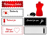 Tailoring Labels, copy space, sewing, couture, DIY fashion. poster