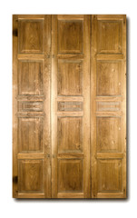 Thai style teakwood board door.