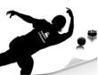 Постер, плакат: Человек играющий в боулинг