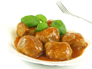 Meatballs,studio isolated