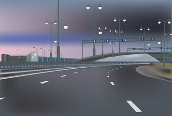 empty highway at evening