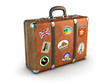 canvas print picture - Travel Suitcase