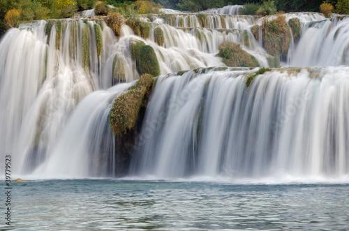 Skradinski Buk - waterfall in Krka National Park in Croatia.