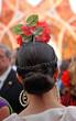 Mujer andaluza en la Feria, fiesta