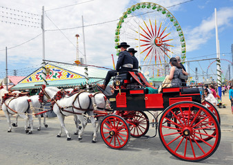 Coche de caballos, Feria de Abril, Sevilla