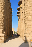 Pillar, Karnak Temple in Egypt, Africa