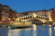 Rialto Bridge at night in Venice - Italy
