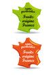 Label fruits Origine France