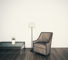 modern comfortable interior armchair, 3d image