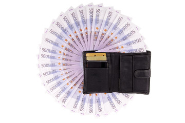 Image purse with euros