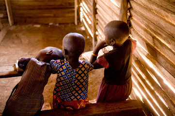 Masai children at school