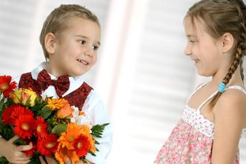 Verliebte Kinder