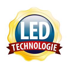 emblem button gold led technologie