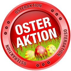 Button Osteraktion Ostereier rot