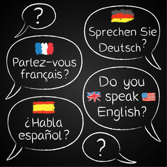 Blackboard, Sprechen Sie.../Do you speak...