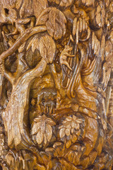 Teak-wood carving is a form of literature.
