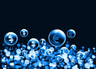 money symbol bubbles