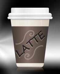 Latte container.