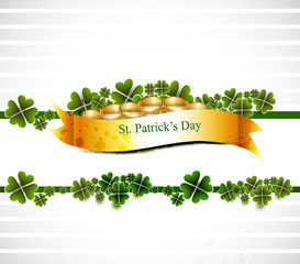 beautiful st patrick's day illustration with gold shiny coins