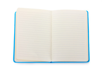 beautiful notebook isolated on white