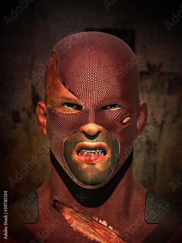 Staande foto Stierenvechten Strong Male Super Hero Comic character