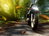 Fototapety Speeding Motorcycle