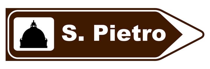 Cartello San Pietro - Pellegrinaggio