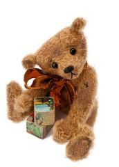Teddy Bear with toy blocks