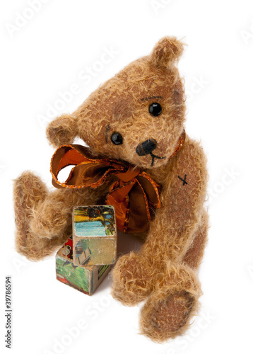 Teddy Bear with toy blocks
