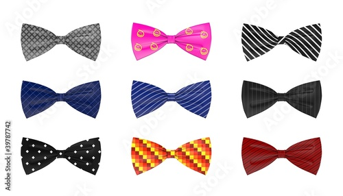 3d render of bow ties